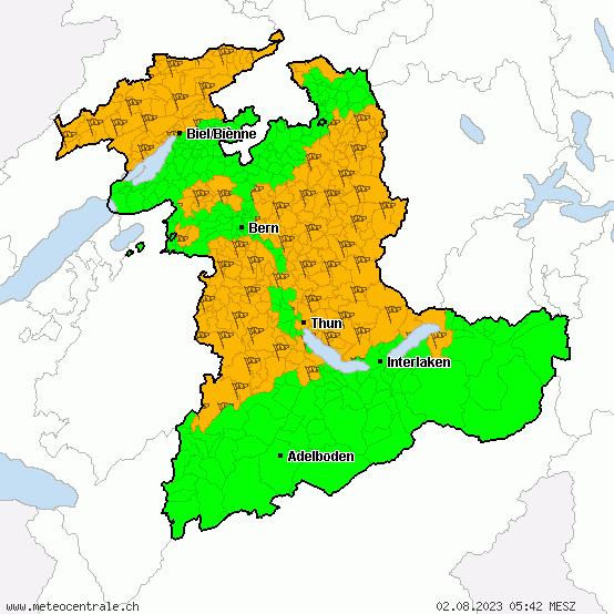Wetterwarnungen Bern MeteoCentrale
